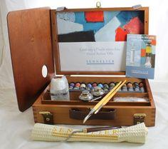 Sennelier Artist Oils Wood Box Set Of 12 40ml
