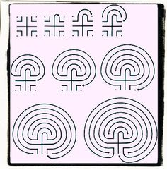 How to draw a labyrinth.