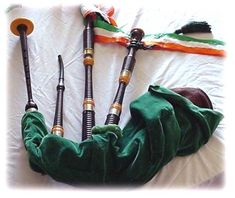A set of two droned warpipes made by Henery Starck of London for a member of the Irish Defence Forces in the  1920's.