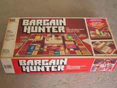 Vintage 1981 Bargain Hunter board game. $7.00, via Etsy.