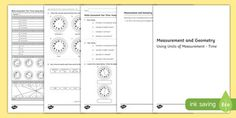 Year 3 Measurement and Geometry Units of Measurement Time Assessment…