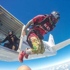"""Go! @jump_junkie"" Dynamic Action, Hang Gliding, Rappelling, Paragliding, Snow Skiing, Skydiving, Best Memories, Rafting, Kayaking"