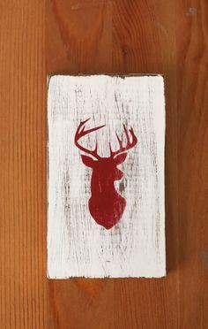 Hand painted Deer Silhouette