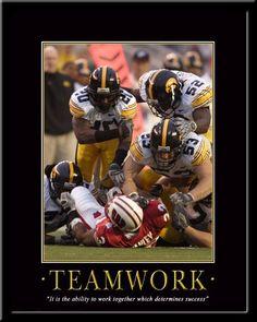 Teamwork Iowa Hawkeyes Motivational Poster