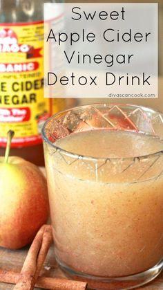 sweet apple cider vinegar detox drink divas can cook Vinegar Detox Drink, Apple Cider Vinegar Detox, Detox Drinks, Healthy Drinks, Healthy Juices, Wonder Soup Recipe, Apple Cider Vinegar Remedies, 7 Day Diet, Divas Can Cook