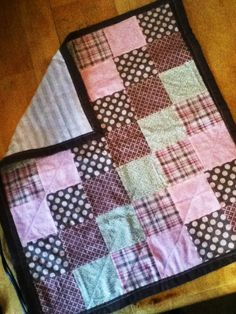 Baby girl quilt Made by Heather Miller of Laundry Room Quilts