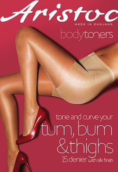 Aristoc Bodytoners Tum Bum and Thigh Low Leg Toner Tights - In Stock At UK Tights