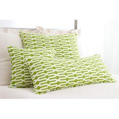 "Pine Cone Hill Graphic Traffic Links 18"" Decorative Pillow in Key Lime"