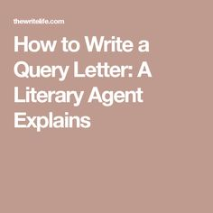 How to write the perfect query letter query letter example how to write a query letter a literary agent explains spiritdancerdesigns Gallery