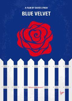 BLUE VELVET minimal movie poster