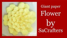 DIY:Giant paper flower by SaCrafters (How to cut petals)
