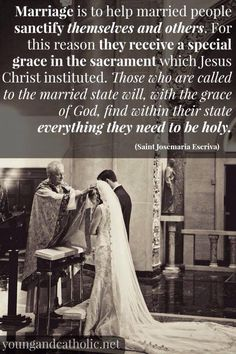 Catholic teaching: if you stay on God's path you should get married in the Catholic Church with a Catholic priest as apart of the sacrament of matrimony Catholic Prayers, Catholic Quotes, Catholic Saints, Religious Quotes, Roman Catholic, Catholic Answers, Catholic Priest, Religious Images, Biblical Quotes