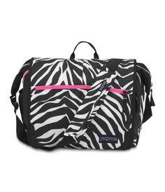 Jansport Elefunk Laptop Messenger Bag - Black White Fluo Pink Miss Zebra  Messenger Backpack 56fe27e53c589