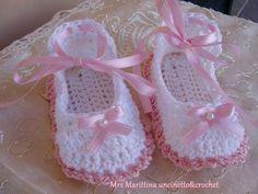 Scarpine uncinetto Mary Jane - Mary Jane crochet booties