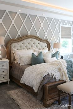 Home Bedroom, Modern Bedroom, Bedroom Furniture, Bedroom Decor, Bedroom Ideas, Contemporary Bedroom, Bedroom Cabinets, Furniture Layout, Bedroom Inspo