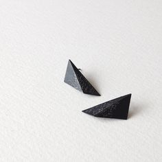 Geometric Sterling Silver Earrings Triangle Sterling by RawObjekt