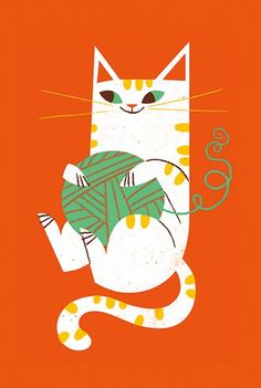 bellasecretgarden: Lydia Nichols Kitty Print  via