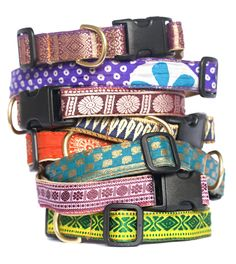 Vintage sari dog collars by NATIVE DOGS- shopnativedogs.com