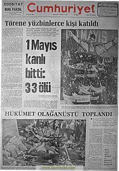 Cumhuriyet gazetesi May 1977 Turkey Country, Newspaper Headlines, Newspaper Archives, Image Title, Picture Description, Image Boards, Revolutionaries, Nostalgia, Olay