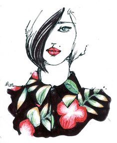 ".: Alessia Landi ""The Red Dot"" Fashion Illustrations"