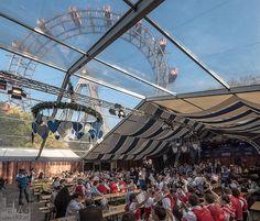 Cafe Restaurant, Kaiser, Ferris Wheel, Austria, Fair Grounds, City, Travel, Pictures, Vienna Christmas