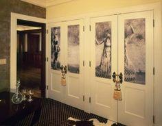 How to decorate closet doors