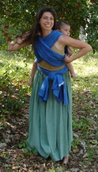 Wrap Your Baby - How to get a baby on your back cross carry twist back