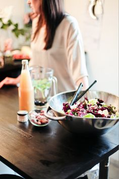 Beet and Red Cabbage Salad with entils and Blue Cheese Recipe Clean Recipes, Lunch Recipes, Wine Recipes, Blue Cheese Recipes, Red Cabbage Salad, Salad Bar, Beets, Healthy Cooking, Along The Way