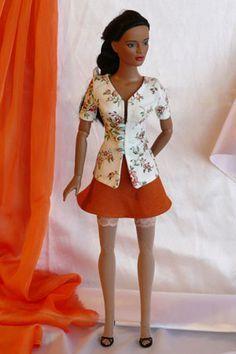 Spring blouse for Tonner dolls - free pattern download