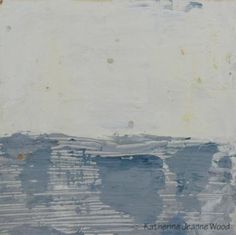 Giclee print of my acrylic white and gray blue abstract landscape painting. Modern wall hanging or wall decor.    Title: Underground World