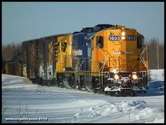 Southbound 516 with GP9 1603 & GP38-2 1809 on point rolls past mile 103 of the Kap Sub January 25, 2015