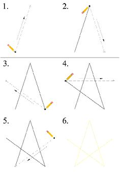 How to draw a perfect star with only a ruler! (and a