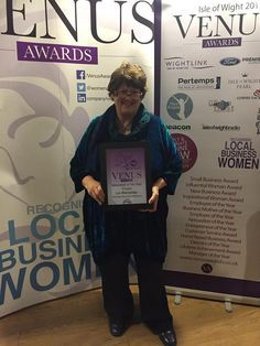 Venus awards Isle of Wight - I'm down to the last three in Networker of the Year category - photo by Laura Holme.