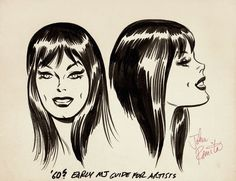 JOHN ROMITA 1960'S VERY EARLY MARY JANE WATSON STYLE GUIDE DRAWINGS!, in Pedigree ComicsAuction House's PEDIGREE COMICS COMIC ART AUCTION-APRIL 3-13 2017...TAKING CONSIGNMENTS NOW!!!! Comic Art Gallery Room