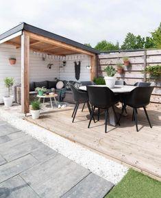 Backyard Ideas For Small Yards, Backyard Patio Designs, Small Backyard Landscaping, Patio Ideas, Landscaping Ideas, Terrace Ideas, Patio Pergola, Pergola Kits, Pergola Ideas