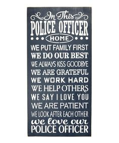 Saras Signs Police Officer Home Wall Sign | Zulily