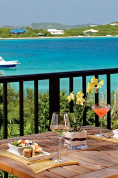 Enjoy the ocean breeze and spectacular views while dining on the terrace. The Ritz-Carlton, St. Thomas (St. Thomas, US Virgin Islands) - Jetsetter