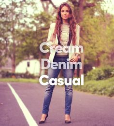 #Cream #Denim #Casual Register and upload your #ThreeWordWardrobe to stand a chance to win Spree shopping vouchers worth R 5 000. T&C apply. l skip.co.za