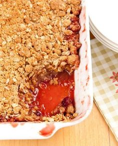 This old-fashioned dessert of warm baked apples and tart scarlet cranberries with a crunchy oat streusel topping comes from Rustic Fruit Desserts by Cory Schreiber and Julie Richardson, a small and unassuming little cookbook full of yummy treasures. If you're at all intimidated by baking, or just think of it as one of those things that …