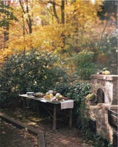 rustic buffet table. photo by anna williams.