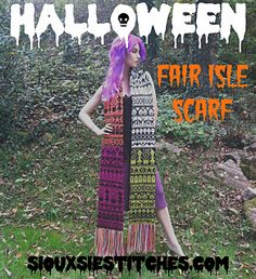 This floor-dusting statement scarf is so spectacularly spooky that it can be worn in lieu of a costume, and the thick fair isle fabric is sure to keep you warm on a frosty All Hallows' Eve.
