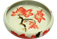 Hand-Painted Floral Porcelain Bowl on OneKingsLane.com