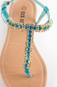 Turquoise bling sandles!  I need these too.  :)