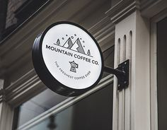 "Line art logo created for a local coffee shop.  Check out new work on my @Behance portfolio: ""Mountain Coffee Co."" http://be.net/gallery/59564427/Mountain-Coffee-Co"