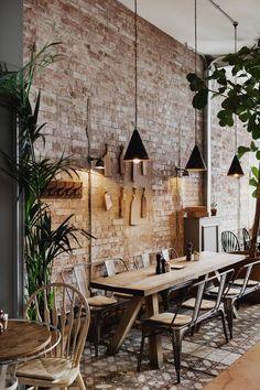 32 Lovely Villa Interior Design Ideas To Scale Up Your Life - Trend Home Villa Interior, Loft Interior, Cafe Interior Design, Interior Decorating, Cafe Interior Vintage, Decorating Ideas, Brick Interior, Kitchen Interior, Interior Shop