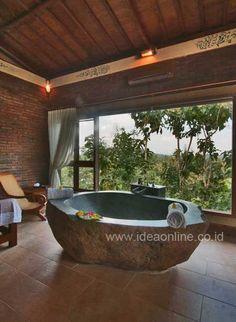 27 Stunning Stone Bathtub Designs