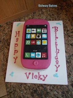 Mobile phone topper - For all your cake decorating supplies, please visit craftcompany.co.uk