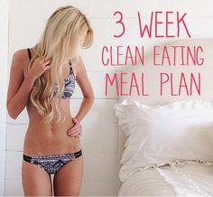 A great clean eating meal plan. This girl lost 70 lbs. by changing her eating habits to healthier foods!!