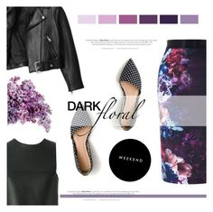 """""""In Bloom: Dark Florals"""" by antemore-765 ❤ liked on Polyvore featuring Coast, Acne Studios, Fendi and J.Crew"""