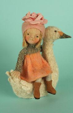 yoomoo: girl with swan